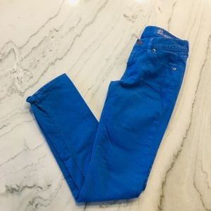 JCrew//Blue matchstick Jeans, Size 25R